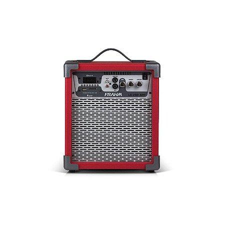 Caixa Amplificada Multiuso 60W Frahm USB FM Bluetooth Cartão Memória Vermelha Bivolt [LC250 APP VM]