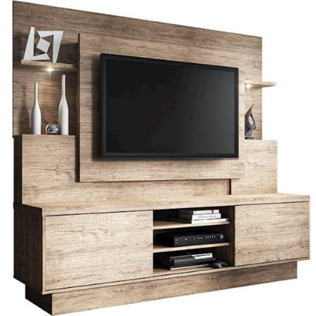 "Estante Home Aron Smart para TV's até 55"" Naturale [2366137440]"