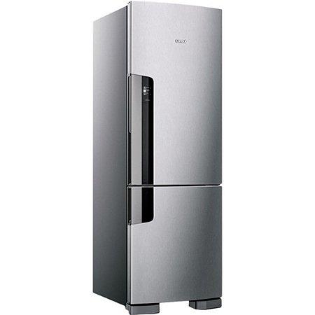 Geladeria/Refrigerador Consul Frost Free 397 litros com Freezer Embaixo CRE44 Inox 110V