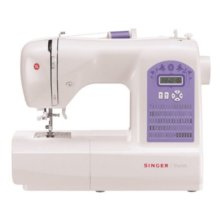 Máquina de Costura Singer Starlet 6680 Eletrônica 74 Pontos Mesa Extensora 127 Volts Branco e Lilás [6680 BR RX]