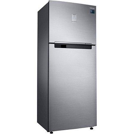 Refrigerador Frost Free Samsung 453l Rt46 Top Mount Freezer 127v, Inox