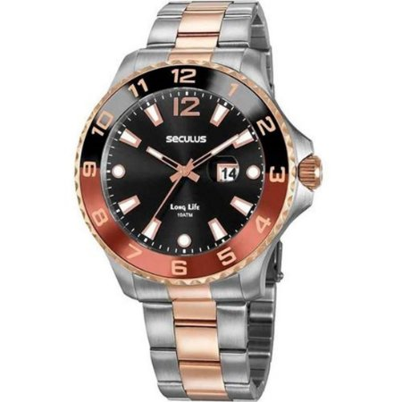 Relógio Analógico Seculus Masculino Long Life - 20764GPSVGA2