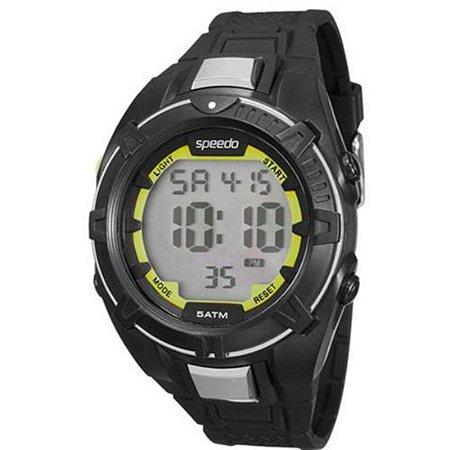 Relógio Masculino Esportivo Preto Com Verde Speedo