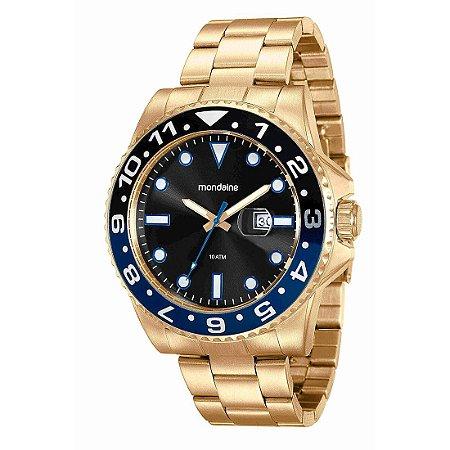 Relógio Masculino Mondaine Analógico c/calendário Resistente Água Dourado[94785GPMVDA3]