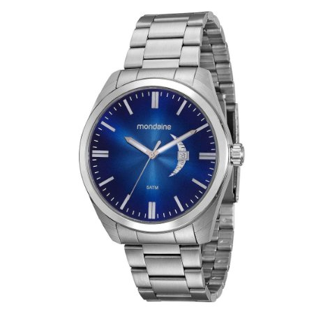 Relógio Masculino Mondaine Analógico c/calendário Resistente Água Prateado [99001G0MVNA1]