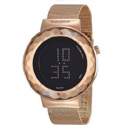 Relógio Mondaine Feminino Led Rosé Gold
