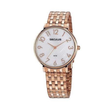Relógio Seculus 77050Lpsvrs2 Rosé Analógico