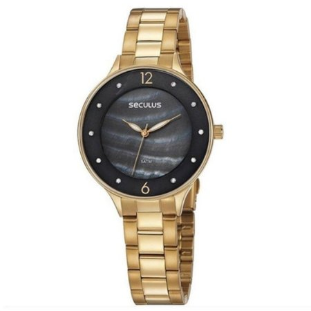 Relógio Seculus Feminino Ref: 77048lpsvds1 Fashion Dourado