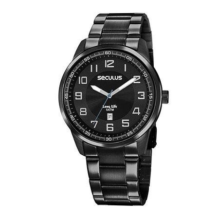 Relógio Seculus Masculino Ref: 20785gpsvpa3 Casual Black