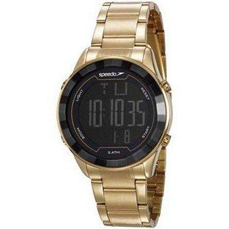 Relógio Speedo Feminino Dourado Digital