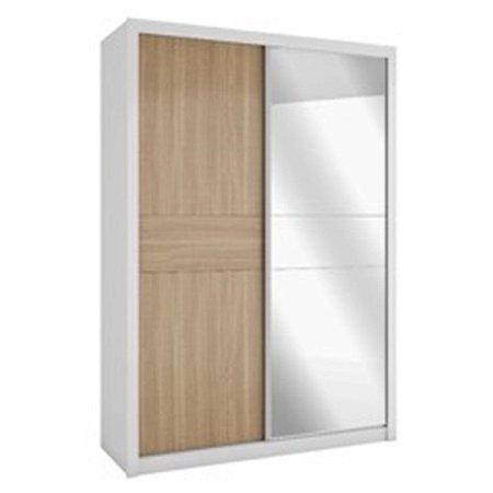 Roupeiro 2 Portas Deslizantes Com Espelho Copacabana Plus