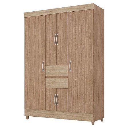 Guarda-roupas Demobile Ecom II 6 Portas 2 Gavetas Nogal Vanilla Touch