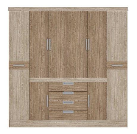 Guarda-roupas Demóbile Realce 8 Portas 4 Gavetas Nogal/Vanilla Touch [84010]