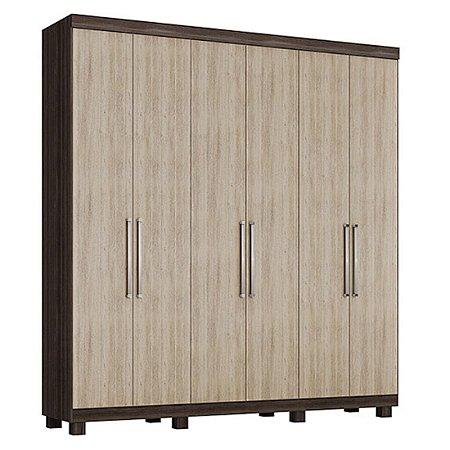 Guarda-roupas Rimo Itacaré 6 Portas Ebano/Savana [5554509 EBN]
