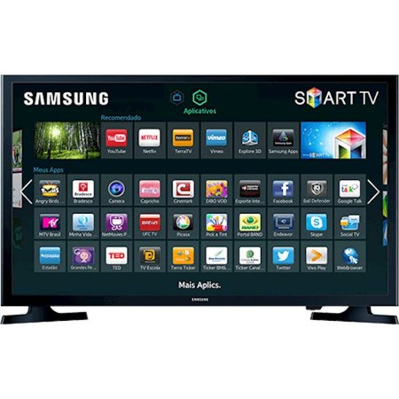 "Smart TV 32"" LED Samsung HD Flat HDMI USB ConnectShare Movie Preta [J4300]"