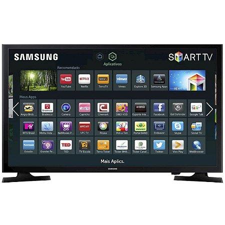 "Smart TV 40"" LED Samsung Full HD 2HDMI 1USB ConnectShare Movie Wi-Fi Preta [UN40J5200AGXZD]"
