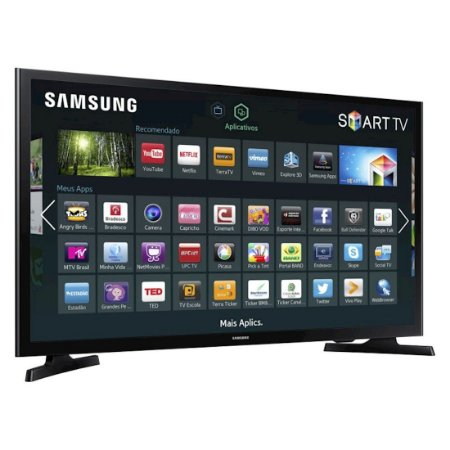 """Smart TV 40"""" LED Samsung Full HD HDMI USB ConnectShare Movie Preta [UN40J5200AGXZD]"""