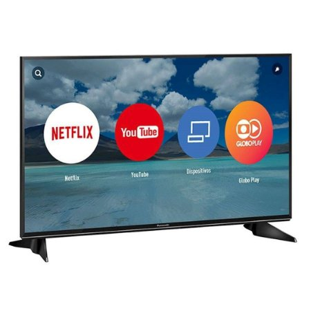 "Smart TV 43"" LED Panasonic Ultra HD 4K Hexa Chroma Drive HDR 3HDMI 2USB Ultra Vivid Preta [TC-43EX600B]"