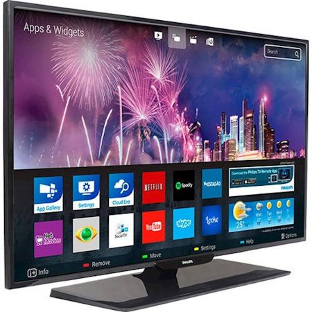"Smart TV 43"" LED Philips Slim FHD 3HDMI 2USB YouTube Netflix Aplicativos on-line Preta [43PFG5102/78]"