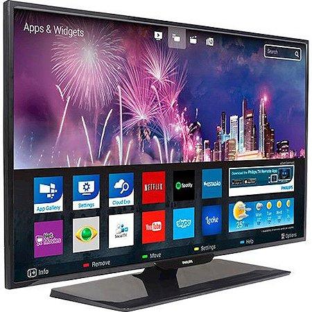 "Smart TV 43"" LED Philips Slim Full HD 3HDMI 1USB Wi-Fi Miracast™ Cloud Explorer e Dropbox™ Preta [43PFG5100]"