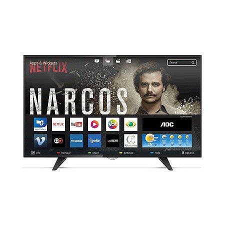 "Smart TV 50"" LED AOC FHD HDMI USB Netflix Globo Play Preta [LE50S5970]"