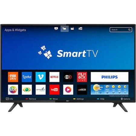 "Smart TV LED 32"" Philips 32PHG5813/78 HD com Conversor Digital 2 HDMI 2 USB Wi-fi 60hz - Preta"