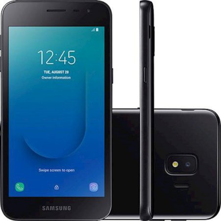 "Smartphone Samsung Galaxy J2 Core 16GB Dual Chip Tela 5"" Quad-Core 1.4GHz 4G Câmera 8MP - Preto"