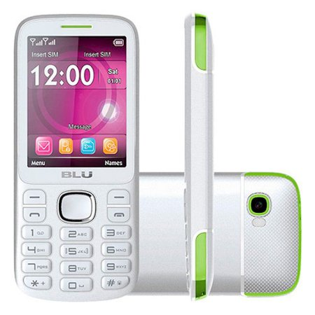 Telefone Celular Blu Jenny Tv 2Chips Bluetooth MP3 MP4 Câmera Com Flash Branco/Rosa