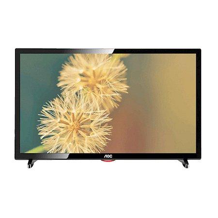 """TV 24"""" LED AOC HD HDMI USB Preta [LE24D1461]"""