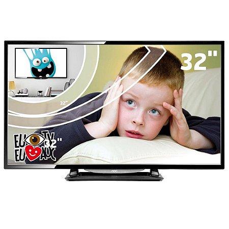 """TV 32"""" LED AOC HD 2HDMI 1USB Entrada VGA/RGB Conversor Digital Preta [LE32D1352]"""