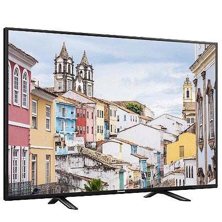 "TV 40"" LED Panasonic FHD 2HDMI 1USB Media Player V-Audio Preta [TC-40D400B PT]"