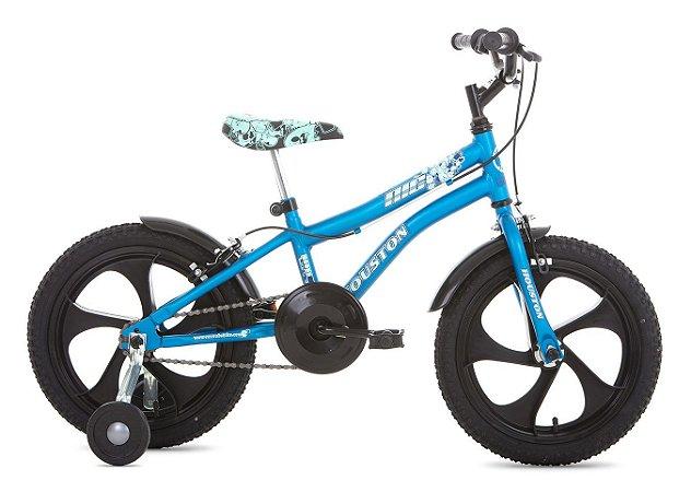 Bicicleta Aro 16 com Rodas Laterais Nic-Houston Azul