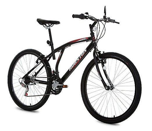 Bicicleta Aro 26 com 21 Marchas Atlantis Mad-Houston - Preto
