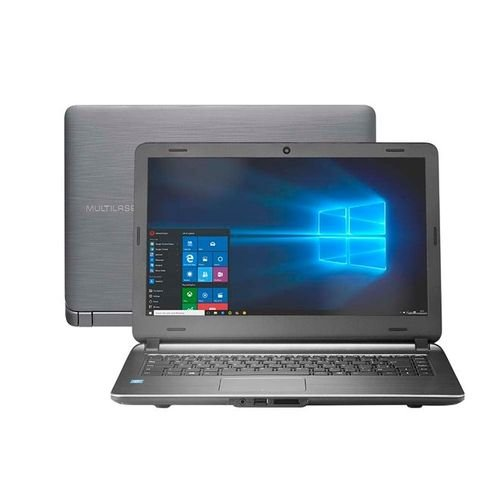 Notebook Multilaser Urban Intel Core i3 4GB 120GB SSD 14 Pol. Windows 10 Preto - PC400
