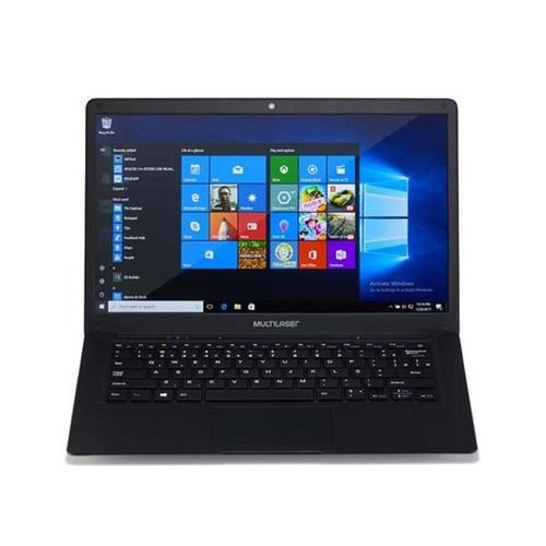 Notebook Legacy Windows 10 4Gb + 32Gb Tela Full Hd 14.1 Pol. Preto Multilaser - PC208
