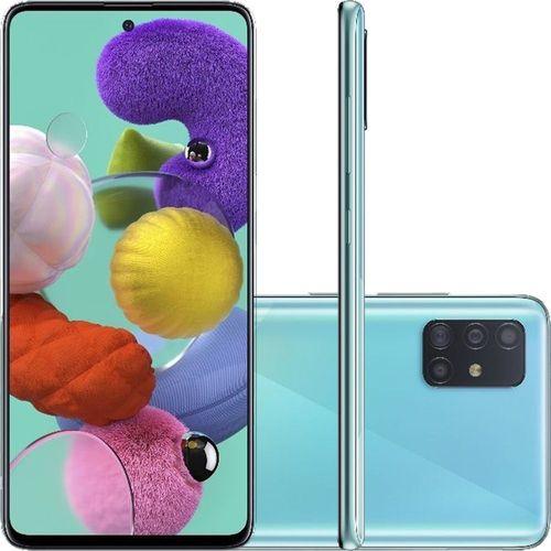 "Smartphone Samsung Galaxy A51 Android Tela 6,5"" Super Amoled Octa-Core 2.3 128GB 4G Câmera 48MP+12MP+5Mp - Azul"
