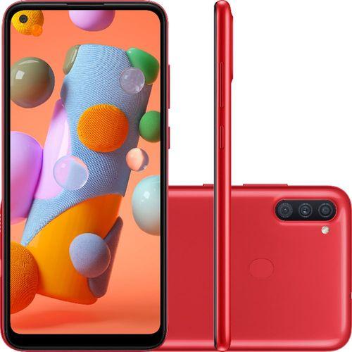 "Smartphone Samsung Galaxy A11 32GB Dual Chip Android 10 Tela 6.4"" Octa-Core 4G Câmera Tripla 13MP+5MP+2MP - Vermelho (Cód.1698065770)"