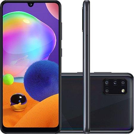 "Smartphone Samsung Galaxy A31 Dual Chip Android 10 Tela 6.4"" Octa-Core 128GB 4G Câmera Quádrupla 48MP+8MP+5MP+5MP - Preto"
