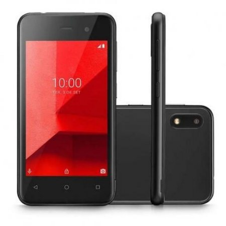 Smartphone Multilaser E Lite 3G 16GB Tela 4.0 Quad Core Câmera traseira 5MP + 5MP frontal Preto - P9099 0