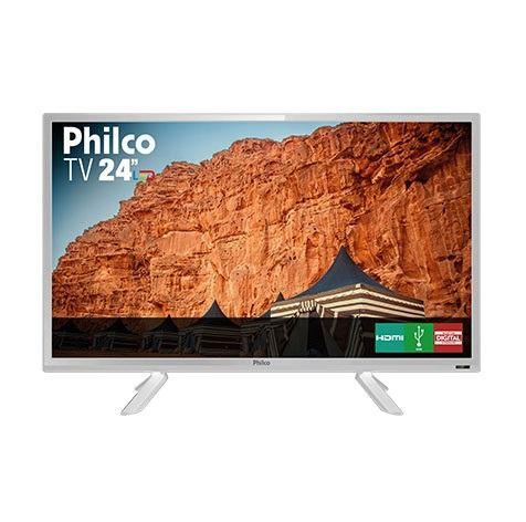 TV PHILCO PTV24C10DB LED BIVOLT - COR: BRANCA