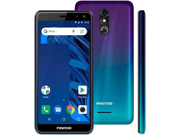 "Smartphone Positivo Twist 3 Pro S533 64GB Aurora - 1GB RAM Tela 5,7"" Câm. 8MP Câm. Selfie 8MP"