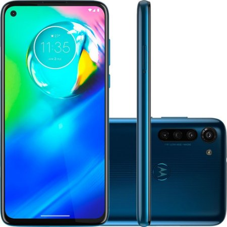 "Smartphone Motorola Moto G8 Power 64GB Dual Chip Android 6,4"" Qualcomm Snapdragon 665 4G Câmera Traseira 16MP + 8MP + 2MP Filmadora 4K Azul"