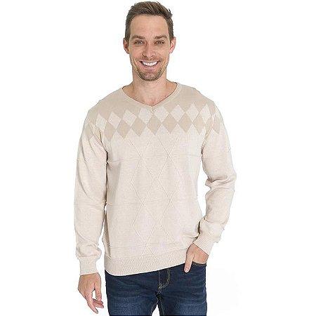 Blusa Tricot Losangos
