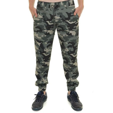 Calça Tactel Camuflada Militar