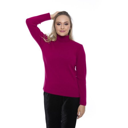 Blusa Tricot Gola Alta Pink - Últimas Unidades