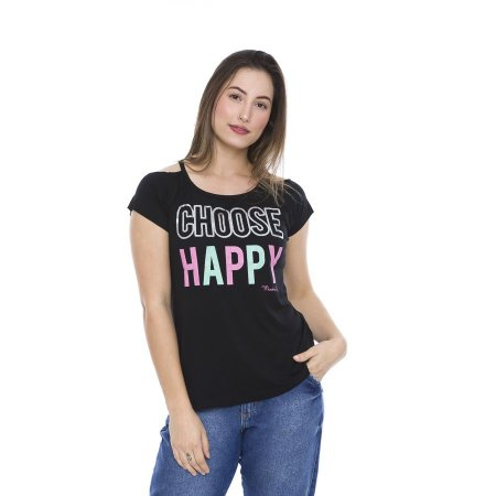 Blusa Verão Visco Choose Happy