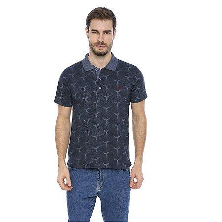 Camisa Pólo Masculina Geometric