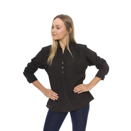 Camisa de Tecido com Botões Detalhe Frente