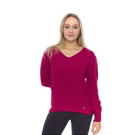 Blusa de Tricot Amarração Costa Pink