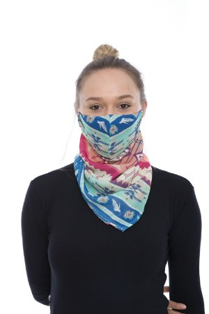Máscara Lenço de Tecido Lavável Color
